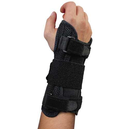 Blue Jay Dlx Wrist Brace Black for Carpal Tunnel  Right Lg/XL