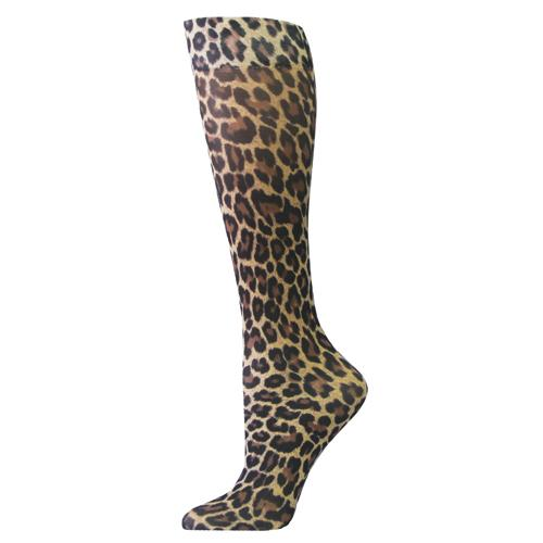 Blue Jay Fashion Socks (pr) Leopard 8-15mmHg