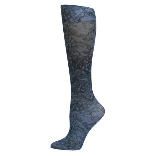 Blue Jay Fashion Socks (pr) Midnight Lace 8-15mmHg