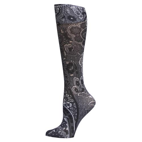 Blue Jay Fashion Socks (pr) New Black Paisley 8-15mmHg