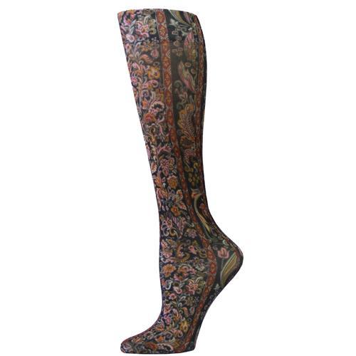Blue Jay Fashion Socks (pr) Black Versache 8-15mmHg