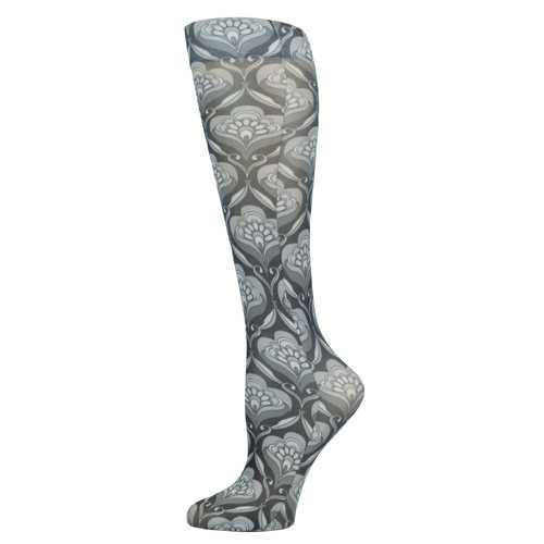 Blue Jay Fashion Socks (pr) Floral Arabesque 8-15mmHg