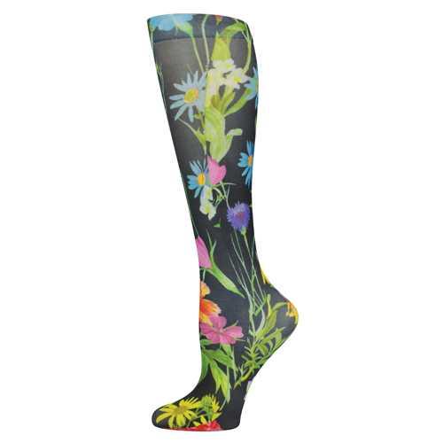 Blue Jay Fashion Socks (pr) Black Bellagio 8-15mmHg