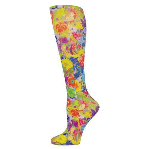 Blue Jay Fashion Socks (pr) Bouquet 8-15mmHg
