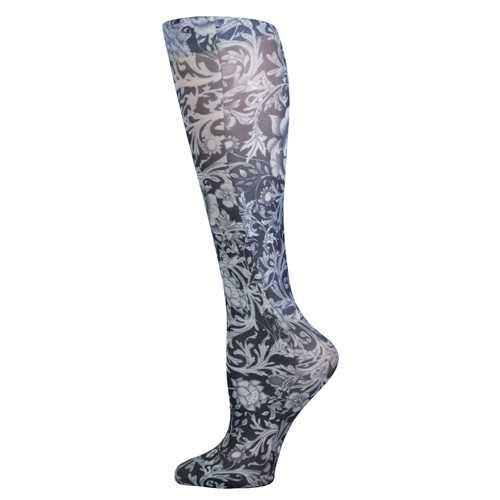 Blue Jay Fashion Socks (pr) BW Vines & Roses 15-20mmHg