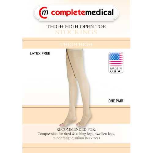 Firm Surg Weight Stkngs Medium 20-30mmHg Thigh w/GarterTop CT