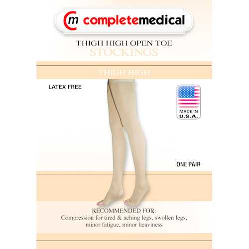 X-Frm Surg Weight Stkngs Large 30-40mmHg Thigh w/Grtr Top  CT