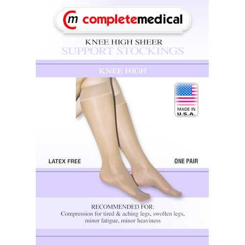 Ladies' Sheer Mild Support  Md 15-20mmHg  Knee Hi  CT  Black