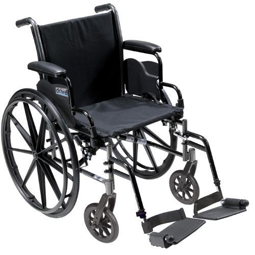 K3 Wheelchair Ltwt 18  w/DDA & S/A Footrests  Cruiser III