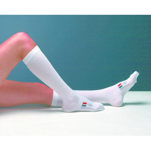 TED Knee Length- Closed Toe- Large - Long (pair) White