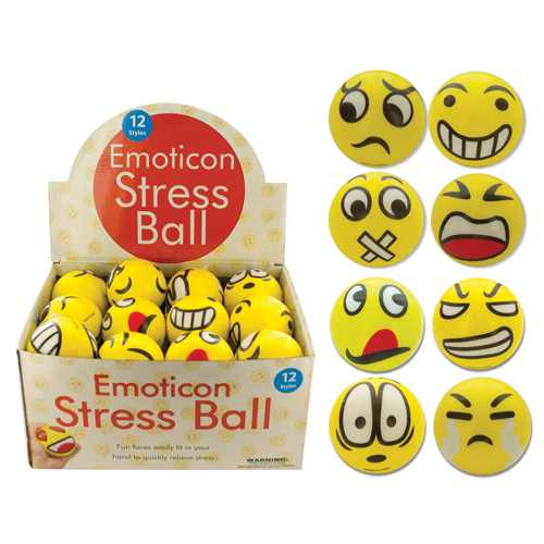 Emoticon Stress Ball Countertop Display  Bx/24