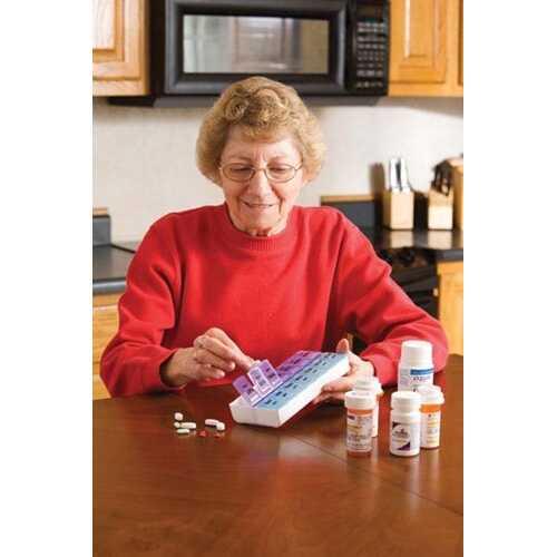Pill Organizer Twice-A-Day Weekly