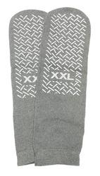 Slipper Socks; XXL Grey Pair Men's 12-13