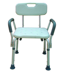 Bath Bench Adj Ht. w/Back-KD w/Remov Padded Arms (Drive)