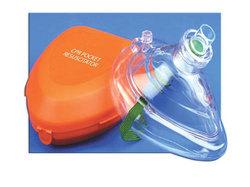 CPR Pocket Mask W/Hard Case & One-Way Valve & O2 Inlet