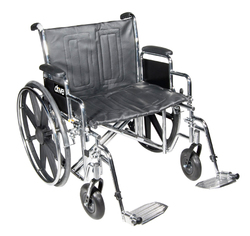 Category: Dropship Medical, SKU #20959N, Title: Wheelchair Std Dual-Axle 24  w/Rem Full Arms & S/A Footrest