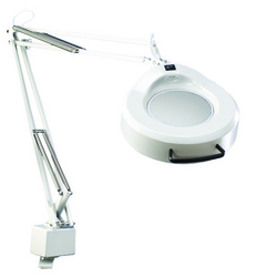 Category: Dropship Medical, SKU #240A, Title: Luxo Fluorescent Magnifying Lamp W/ Mobile Base