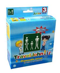 Travel John Disp Urinary Pouch  Juvenile  Bx/3