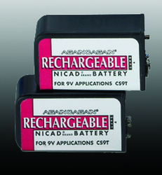 Battery-9V Nicad (pair) Rechargeable