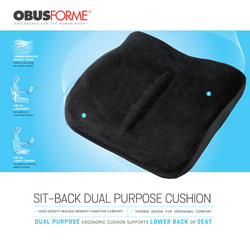 The Sitback Cushion Obusforme  Black