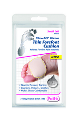 Visco-GEL Silicone Thin Forefoot Cushion Large Left