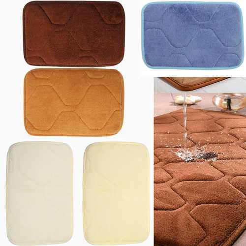 30x20cm Small Shape Non Slip Absorbent Coral Velvet Memory Foam Mat
