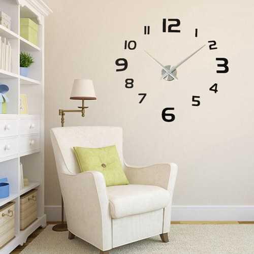 3D DIY Modern EVA Round Number Wall Clock Sticker Home Decoration