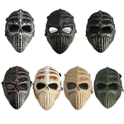 Tactical Military Skull Skeleton Full Mask for Halloween Costume Party Masks