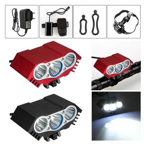 3 x XML T6 LED Headlight Front Bike Bicycle HeadLamp Head Light