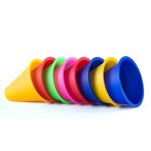 10pcs/lot Training Marking Cones Slalom Skate Pile Cup-Random Color