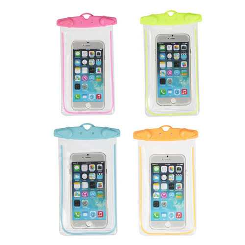 Universal Waterproof Fluorescent Under Water Pouch Case Cover For Mobile Phones