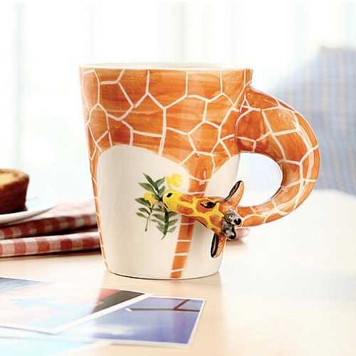 Handmade 3D Animal Shape Coffee Milk Tea Mug Ceramic Water Cup Festival Birthday Gift