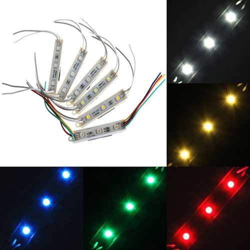 1 Piece 5050 SMD 3 LED Module Rigid Strip String Light Multi-Colors Waterproof DC 12V