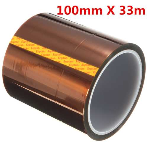 100mm 33m High Temperature Heat Resistant Polyimide Gold Protective Tape