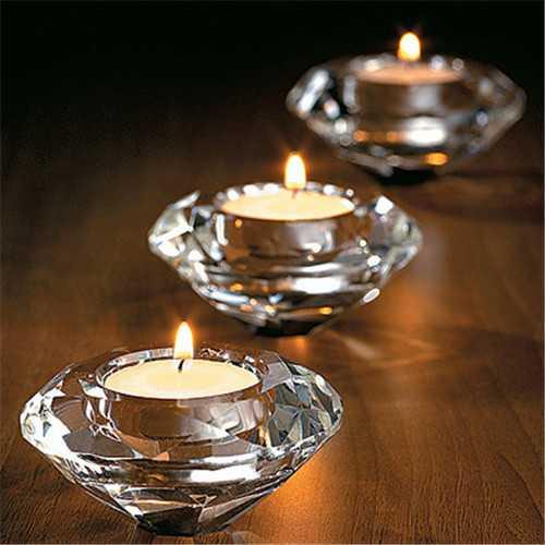 Glass Crystal Candelabra Candleholders Stand Tea Light Candle Stick Wedding Home Decor Gift