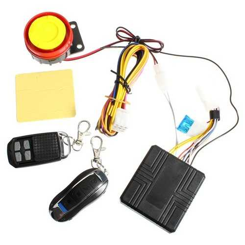 Universal 12V Motorcycle Anti Theft Alarm System Remote Control