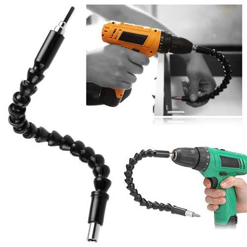 Drillpro 290mm Flexible Shaft Bit Screwdriver Drill Bit Holder for Electronic Drill Drill Adapter