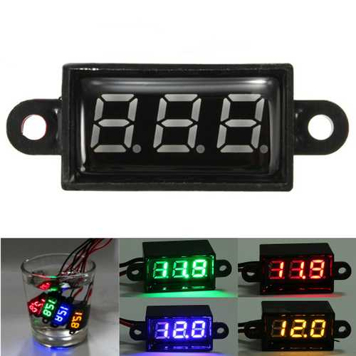 Waterproof 0.28inch DC 3.5-30V Mini Digital LED Volt Meterr For 12V Car Moto