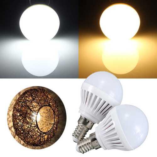 E14 1.6W SMD 2835 9 Pure White/Warm White Energy Saving LED Globe Spotlightt Bulb Lamp AC 220V