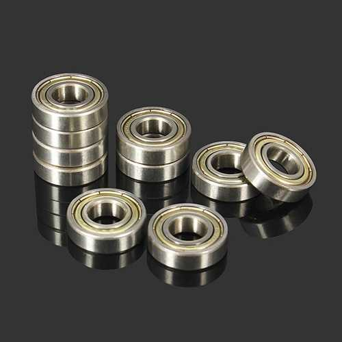10pcs 10x22x6mm 6900zz Steel Sealed Shielded Deep Groove Ball Bearing