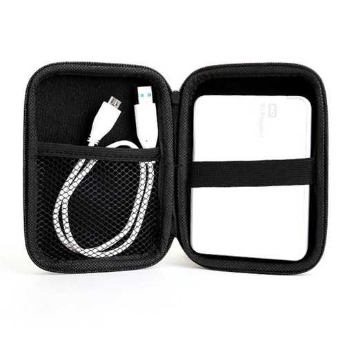 Black Portable Zipper 2.5 Inch Hard Disk Drive Case Bag Caddy Pouch Protection
