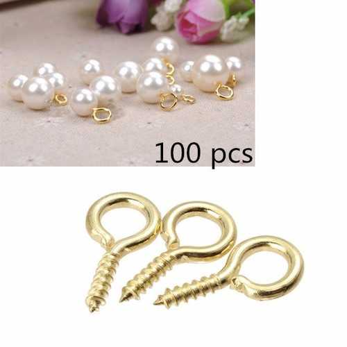 100 pcs Windows Hang Jewelry Accessories Fasteners Packaging Tack Decorative Upholstery Tacks Eye Bolts