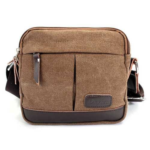 Men Casual Retro Canvas Shoulder Handbag Messenger Crossbody Bag