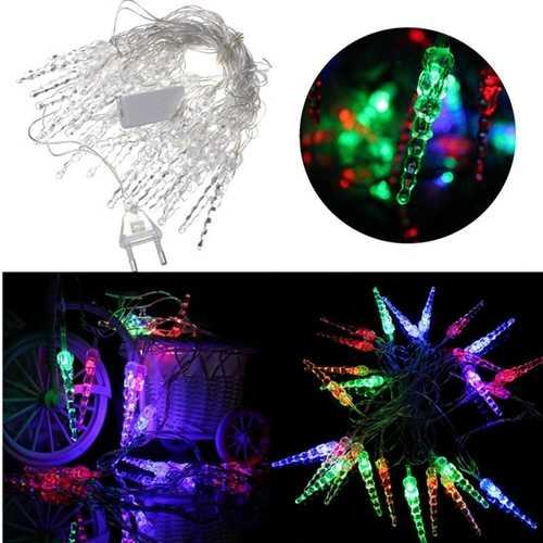 5M 20 LED Colorful Crystal Xmas String Lights Christmas Wedding Party Decor 220V