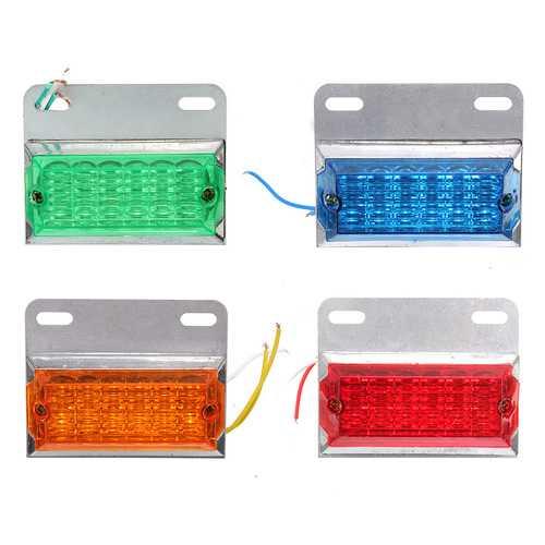 12V 12 LED Lamp Side Marker Light Lamp For Trailer Truck Lorries Van