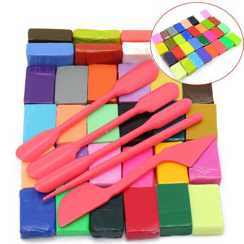 Baby Kids 3D Soft Handicraft Colourful DIY Oven Bake Polymer Clay Block Modelling Moulding Plasticine Tools Set
