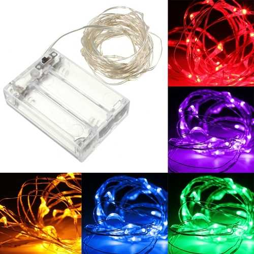10M 100 LED Silver Wire Fairy String Light Battery Powered Waterproof Christmas Party Decor