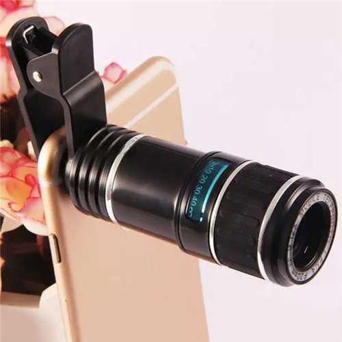 12X Universal Telephoto Lens Mobile Phone Optical Zoom Telescope Camera For iPhone Xiaomi Huawei