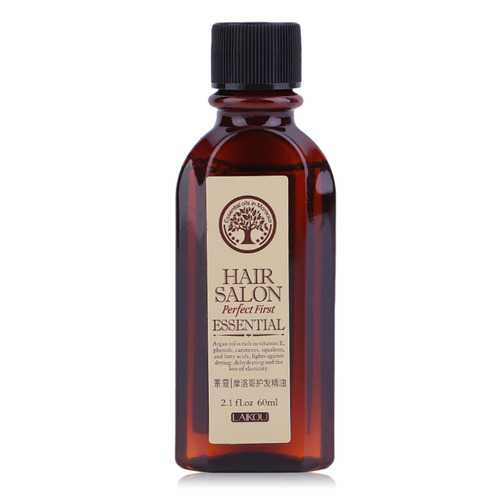LAIKOU 60ml Moroccan Pure Argan Oil Hair Essence for Dry Scalp Hairs Treatment