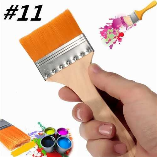 #11 Nylon Paint Brush Artists Acrylic Oil Paint Varnish Brushes Painting